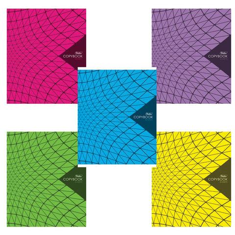 """Тетрадь 96 л., HATBER, клетка, обложка мелованный картон, """"New Line"""", 96Т5В1"""