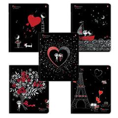Тетрадь 48 листов, АЛЬТ, клетка, фольга, гибридный лак, «Романтика»