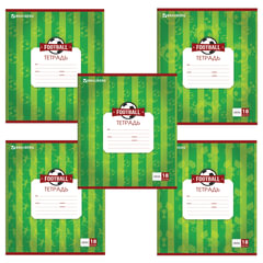 Тетрадь 18 листов, клетка, обложка мелованный картон, блок офсет белый, «Футбол. Чемпионат» BRAUBERG