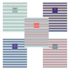 Тетрадь 80 л., HATBER, линия, обложка мелованный картон, «Line», 80Т5В2