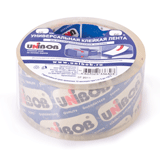 Клейкая лента 48 мм х 66 м, упаковочная, «UNIBOB 600», кристально-чистая, 45 мкм