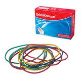 Резинки для денег ERICH KRAUSE (натуральный каучук!), цветные, 100 г, длина 80 мм