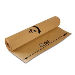 Крафт-бумага для упаковки, 420 мм х 20 м, 78 г/<wbr/>м<sup>2</sup>, в рулоне, BRAUBERG