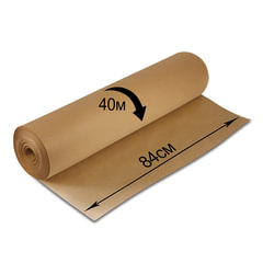 Крафт-бумага для упаковки, 840 мм х 40 м, 78 г/<wbr/>м<sup>2</sup>, в рулоне, BRAUBERG