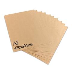 Крафт-бумага для упаковки, 420×594 мм (формат А2), 78 г/<wbr/>м<sup>2</sup>, 100 листов, BRAUBERG