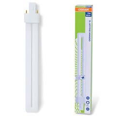 Лампа люминесцентная OSRAM DULUX S 11W/<wbr/>21-840, 11 Вт, U-образная, холодный белый свет, цоколь G23