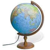Глобус политический/<wbr/>физический GLOWALA, диаметр 320 мм, деревянная подставка