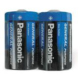 Батарейки PANASONIC D R20 (373), комплект 2 шт., 1.5 В