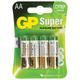 ��������� GP (���-��) Alkaline AA (LR06, 15�), �������� 4 ��., � ��������, 1.5 �