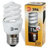 Лампа люминесцентная энергосберегающая ЭРА, суперкомпактная, 11 (55) Вт, цоколь E27, 10000 ч.