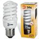 Лампа люминесцентная энергосберегающая ЭРА, суперкомпактная Т2, 15 (90) Вт, цоколь E27, 10000 ч.