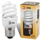 Лампа люминесцентная энергосберегающая ЭРА, суперкомпактная, 20 (100) Вт, цоколь E27, 10000 ч.