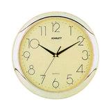 Часы настенные SCARLETT SC-45C круг, желтые, золотистая рамка, 28,8×28,8×3,7 см