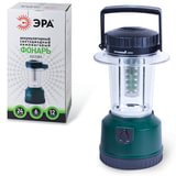 Фонарь ЭРА офисно-бытовой, аккумуляторный, 24 белых светодиода, ЗУ от 220 и 12 В