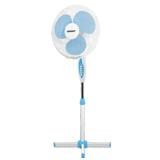 Вентилятор напольный SCARLETT SC-1176, d=40 см, 45 Вт, 3 скоростных режима, подсветка, белый/<wbr/>голубой