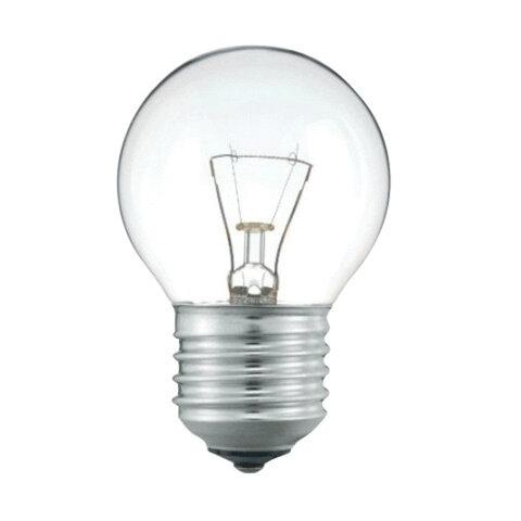 Лампа накаливания PHILIPS P45 CL E27, 60 Вт, шарообразная, прозрачная, колба d = 45 мм, цоколь E27