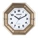 Часы настенные SCARLETT SC-55QZ восьмигранник, белые, золотистая рамка, плавный ход, 25,5×25,5×4 см