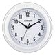 Часы настенные SCARLETT SC-55QG круг, белые, белая рамка, плавный ход, 30,5×30,5×4,3 см