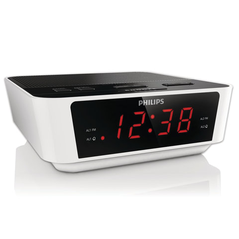 Часы-радиобудильник PHILIPS AJ3115/<wbr/>12, ЖК-дисплей, FM/<wbr/>MW-диапазон, 2 вида сигнала, повтор, таймер