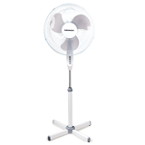 Вентилятор напольный SONNEN SF-45W-40-01, d=40 см, 45 Вт, 3 скоростных режима, белый/<wbr/>серый