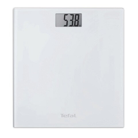 Весы напольные TEFAL PP1000, электронные, максимальная нагрузка 150 кг, квадратные, стекло, белые