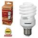 Лампа люминесцентная энергосберегающая SONNEN Т2, 25 (110) Вт, цоколь E27, 8000 часов, теплый свет, эконом
