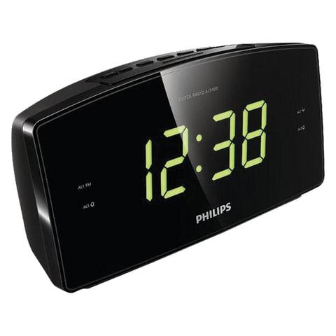 Часы-радиобудильник PHILIPS AJ3400/<wbr/>12, ЖК-дисплей, FM-диапазон, 2 вида сигнала, повтор, таймер