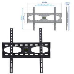 "Кронштейн-крепление для ТВ настенный KROMAX STAR-11, VESA 75-600/<wbr/>400, 32-65"", 0 степеней свободы, до 50 кг, серый"