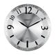 Часы настенные SCARLETT SC-55N, круг, серебристые, серебристая рамка, плавный ход, 33,0×33,0×5,0 см