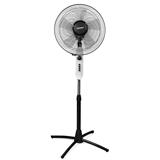 Вентилятор напольный SONNEN SFT-60W-40-01, d=40 см, 60 Вт, 3 скоростных режима, таймер, белый/<wbr/>серый