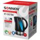 Чайник SONNEN KT-007BK, закрытый нагревательный элемент, объем 1,8 л, 2200 Вт, пластик, черный