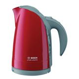 Чайник BOSCH TWK6004N, закрытый нагревательный элемент, объем 1,7 л, мощность 2400 Вт, пластик, красный