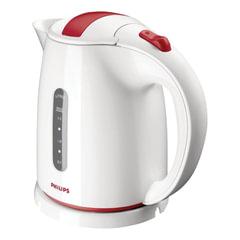 Чайник PHILIPS HD4646/<wbr/>40, закрытый нагревательный элемент, объем 1,5 л, мощность 2400 Вт, пластик, белый с красным