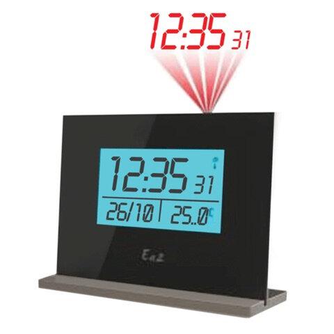 Часы настольные EA2 EN 205 проекционные, будильник, календарь, термометр