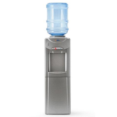 Кулер для воды AEL LD-AEL-326C, напольный, нагрев/<wbr/>охлаждение, шкафчик, 2 крана, серебристый