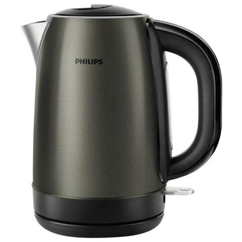Чайник PHILIPS HD9323/<wbr/>80, закрытый нагревательный элемент, объем 1,7 л, мощность 2200 Вт, сталь, титановый