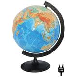 Глобус физический, диаметр 320 мм (Россия), с подсветкой