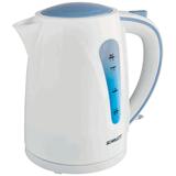 Чайник SCARLETT SC-EK18P14, закрытый нагревательный элемент, объем 1,7 л, мощность 2200 Вт, пластик, белый с синим