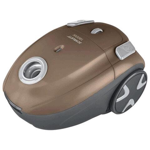 Пылесос SCARLETT SC-VC80B02 с пылесборником, потребляемая мощность 1800 Вт, мощность всасывания 300 Вт, коричневый
