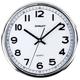 Часы настенные SCARLETT SC-WC1002O круглые, белые, серебристая рамка, пластик, плавный ход, 31×31×4,6 см