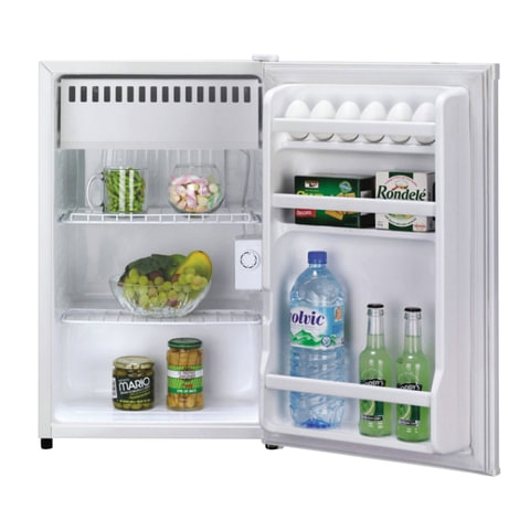 Холодильник DAEWOO FR-081AR, общий объем 88 л, морозильная камера 12 л, 44×45,2×77,6 см, белый