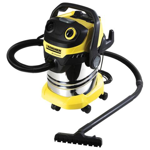 Пылесос KARCHER MV/<wbr/>WD 5 Premium, с пылесборником, мощность 1100 Вт, выдув, контейнер из нержавеющей стали, 1.348-230.0