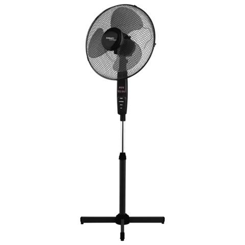 Вентилятор напольный SCARLETT SC-SF111RC02, d=40 см, 45 Вт, 3 скоростных режима, таймер, пульт д/у, черный