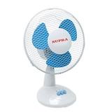 Вентилятор настольный SUPRA VS-901, d=22 см, 30 Вт, 2 скоростных режима, белый/<wbr/>голубой