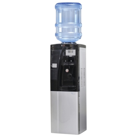 Кулер для воды AEL LC-AEL-440Bd, напольный, нагрев/<wbr/>охлаждение, холодильный шкаф 16 л, подстаканник, 2 крана