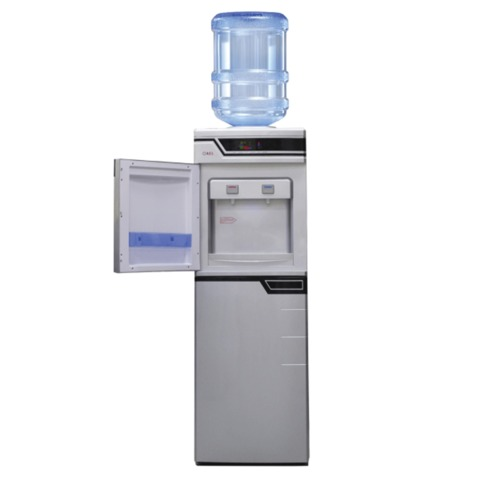 Кулер для воды AEL LC-AEL-301bd, напольный, нагрев/<wbr/>охлаждение, холодильный шкаф 50 л, 2 крана, серебристый