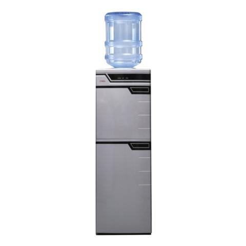 Кулер для воды AEL LC-AEL-301b, напольный, нагрев/<wbr/>охлаждение, холодильный шкаф 50 л, 2 крана, серебристый