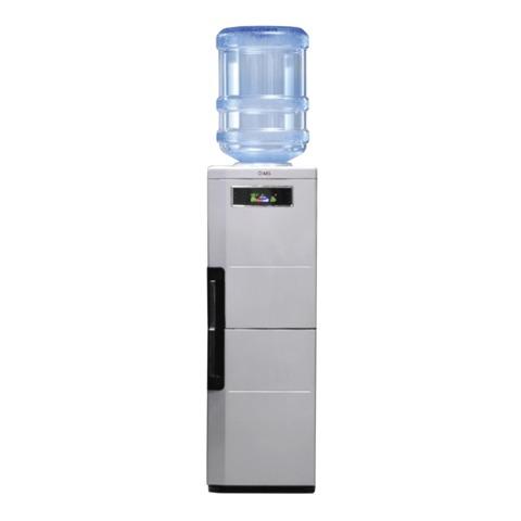 Кулер для воды AEL LC-AEL-188bd, напольный, нагрев/<wbr/>охлаждение, холодильный шкаф 12 л, 2 крана, серебристый