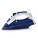 Утюг VITEK VT-1245, 2400 Вт, терморегулятор, керамическая поверхность, автоотключение, паровой удар, белый с синим
