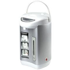 Термопот SCARLETT SC-ET10D01, 3,5 л, 750 Вт, 1 температурный режим, ручной насос, нержавеющая сталь, белый/<wbr/>серебристый